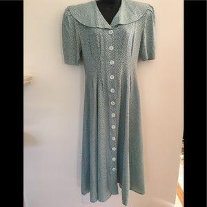 Vintage Hampton Dress Co. Maxi Garden Dress.